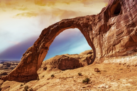 Corona Arch Sunset Moab, Utah