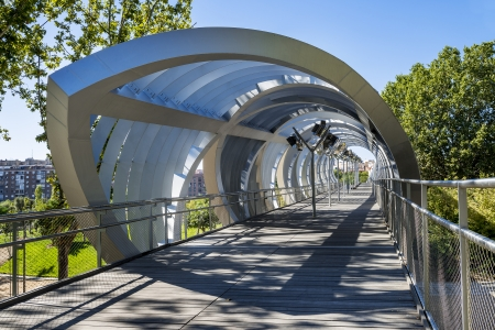 helicoid: Arganzuela Bridge in Madrid city, Spain, Europe