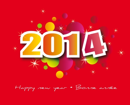 vacances: happy new year graphic for 2014 celebration Stock Photo