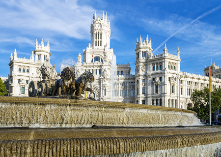 neogothic: Cibeles museo and  located downtown Madrid, Spain