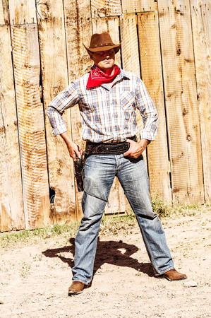 bandana western: SOUTH WEST - A cowboy takes time to rest and reflect.