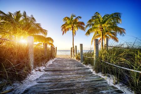 키 웨스트, 마이애미, FLORIDE, 미국에서 해변 방법