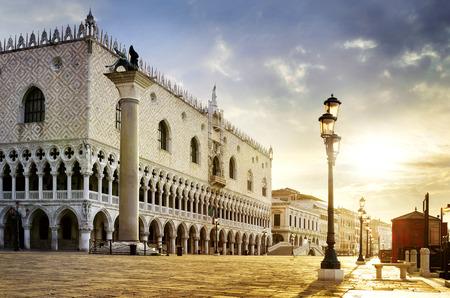 saint mark square: Saint Mark square with San Giorgio di Maggiore church in the background - Venice, Venezia, Italy, Europe Stock Photo