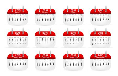 english language: Calendar 2015 in english language