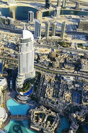 dubai city: Dubai City ViewDowntown district, UAE Stock Photo