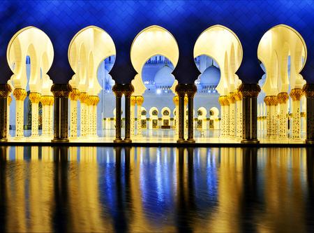 Abu Dhabi Sheikh Zayed White Mosque Standard-Bild