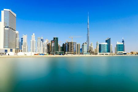dhabi: Dubai skyline, United Arab Emirates Editorial