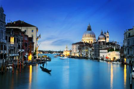 colo: Grand Canal and Basilica Santa Maria della Salute, Venice, Italy and sunny day