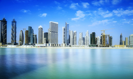 dubai mall: Dubai skyline, United Arab Emirates Stock Photo