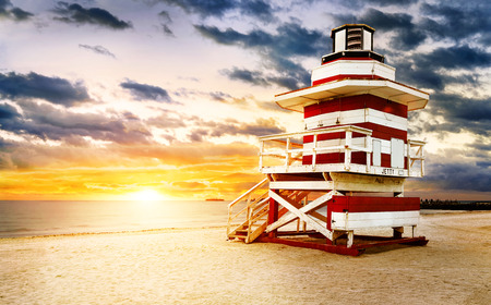 lifeguard tower: Miami South Beach sunrise