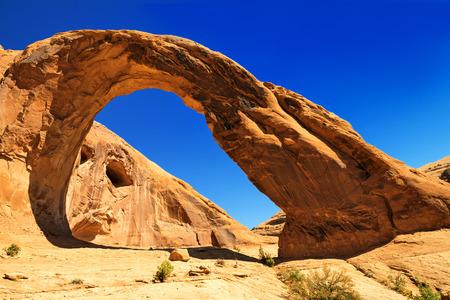 erosion: Corona Arch (Sunset) Moab, Utah. Stock Photo