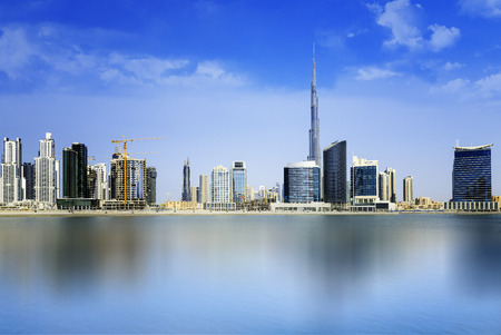 emirates: Dubai skyline, United Arab Emirates Editorial