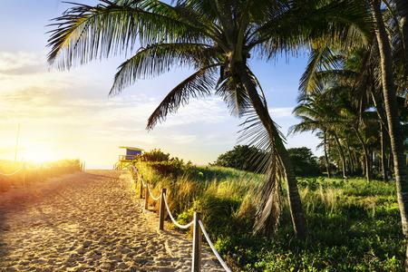 Colorful Lifeguard Tower in South Beach, Miami Beach, Florida, USA Standard-Bild