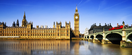 houses of parliament: Big Ben and Houses of Parliament, London, UK Stock Photo
