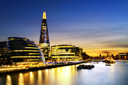 shard of glass: London city Stock Photo