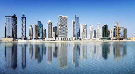 biggest: Dubai skyline United Arab Emirates