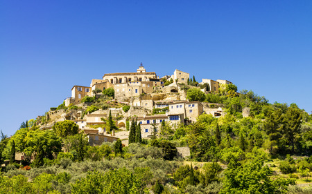 gordes: Famous medieval town Gordes in Southern France