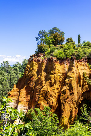 roussillon: Red Cliffs ochres in Roussillon Provence France