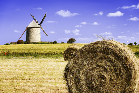 basse normandy: the Moidrey windmill in Pontorson, Normandie, France