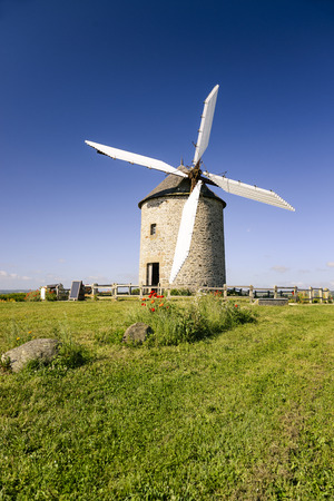 basse normandy: France, the Moidrey windmill in Pontorson in Normandie