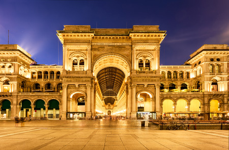 vittorio emanuele: Vittorio Emanuele II Gallery in Milan, Italy