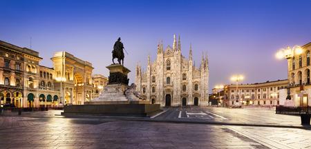 Duomo at sunrise, Milan, Europe. Stock Photo