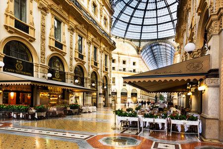 味のイタリアン レストランで、ミラノのヴィットーリオ ・ エマヌエーレ 2 世のガレリア ショッピング モールのミラノ, イタリア - 2015 年 8 月 29 日: