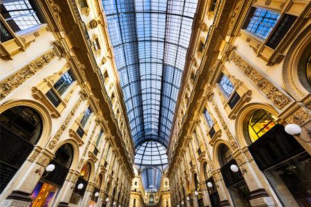 vittorio: Glass dome of Galleria Vittorio Emanuele in Milan, Italy Editorial