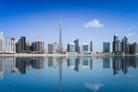 united arab emirates: Dubai skyline, United Arab Emirates Stock Photo