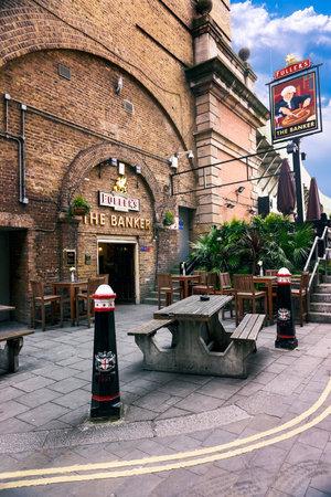 aperitive: LONDON, UK - APRIL 04 2015: amous Cousin Ln, London pub in London City UK Editorial