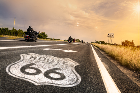 Road-sign Route 66 in Arizona