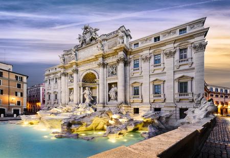 Di Trevi Fontein in Rome, Italië Stockfoto