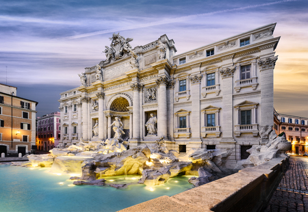 Fountain di Trevi in Rome, Italy 版權商用圖片