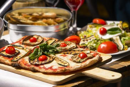 Pasta restaurant in Rome stad Italië Zuid-Europa. Ei noedels, zelfgemaakte food.Tasty en authentieke Italiaanse gerechten.