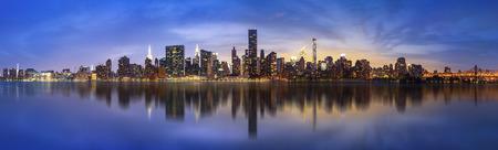ロウアー ・ マンハッタンのスカイライン。巨大なパノラマ ビュー アメリカ 写真素材