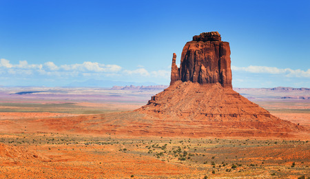 The single landscape of Monument Valley, Utah, USA.