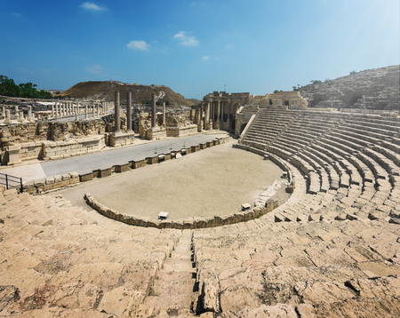 Ruins of the ancient Roman city Bet Shean, Israel