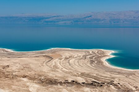 Famous Dead sea view in Israel with Jordania coast Imagens