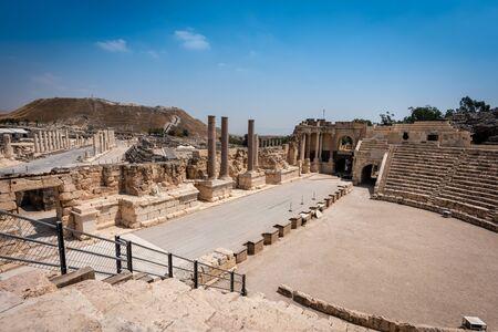 Ruins of the ancient Roman city Bet Shean, Israel Reklamní fotografie
