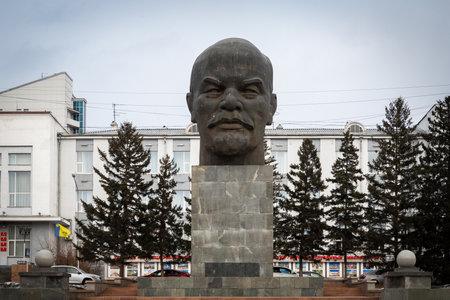09/03/2020 Ulan Ude, Siberia, Russia : Ulan ude, the capital of the Buryatia in Siberia, Russia. The largest head monument of Soviet leader Vladimir Lenin ever built located in Ulan-Ude. Ulan-Ude is the capital city of the Republic of Buryatia, Russia.