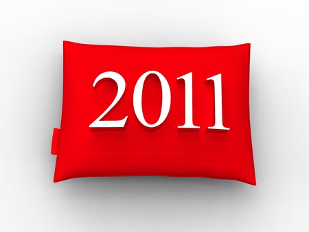 a red cushion to celebrate a happy, loving and warm years photo