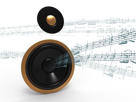 3d illustration of heavy industrial speaker on a white background Stock Illustration - 8738122