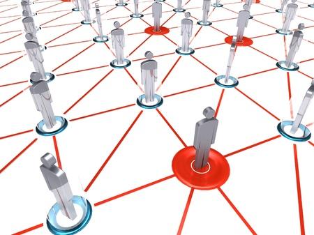 trabajo social: Ilustraci�n 3D del grupo de personas que comparten informaci�n de datos