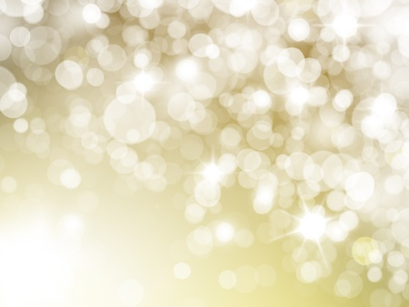 sparkle background: illustration of a bright light with flash of light on a yellow background Stock Photo