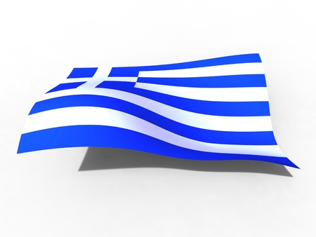 3d illustration of the Greece flag that waves with wind