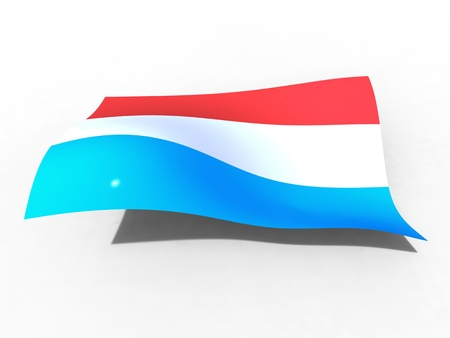 3d illustration of the Luxembourg flag that waves with wind