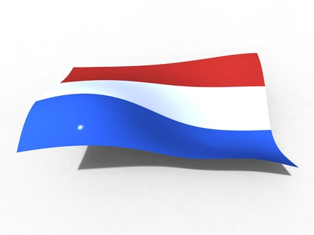 3d illustration of the Netherlands flag that waves with wind