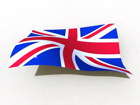 3d illustration of the United Kingdom flag that waves with wind Stock Illustration - 12202630