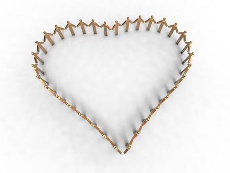 unique concept: heart men