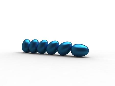 serie: blue of serie eggs